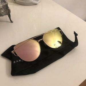 Zara Cat Eye Rose Gold Sunglasses